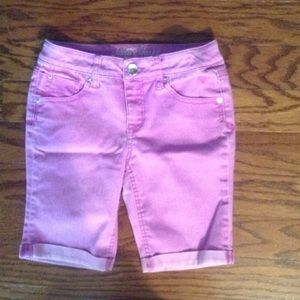 Kids Justice Purple Bermuda Shorts